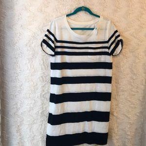LOFT beach size medium striped midi dress NWT